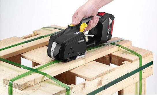 Cercleuse à batterie Messersi MB620 12-16mm (1/2″ à 5/8″) pour banderolage de feuillard PET et PP avec batterie et chargeur 4