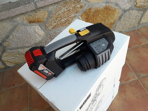 Appareil de cerclage sur batterie MB820 16-19mm (5/8″ à 3/4″) pour banderolage de feuillard PET et PP avec batterie et chargeur 3