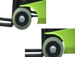 Electric Forklift Variable wheelbase design
